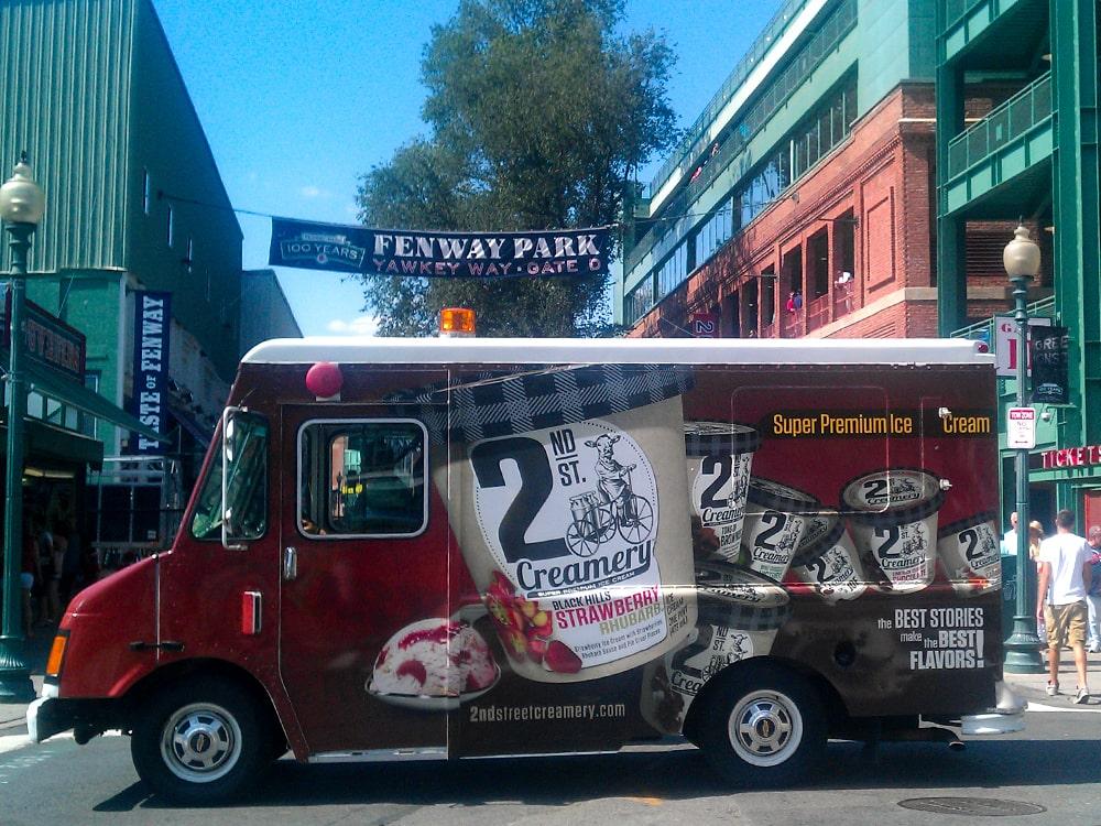 2nd St. Creamery Branded Truck Fenway Park