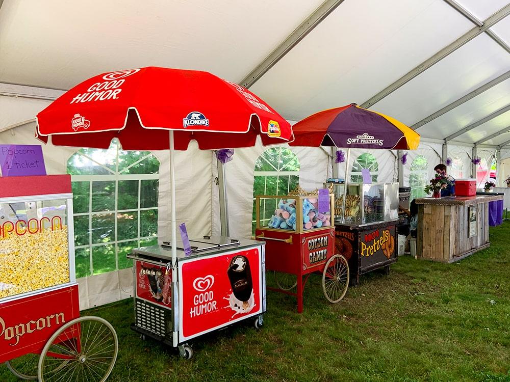Fun Food Stands Popcorn Pretzels Tent Booth-min