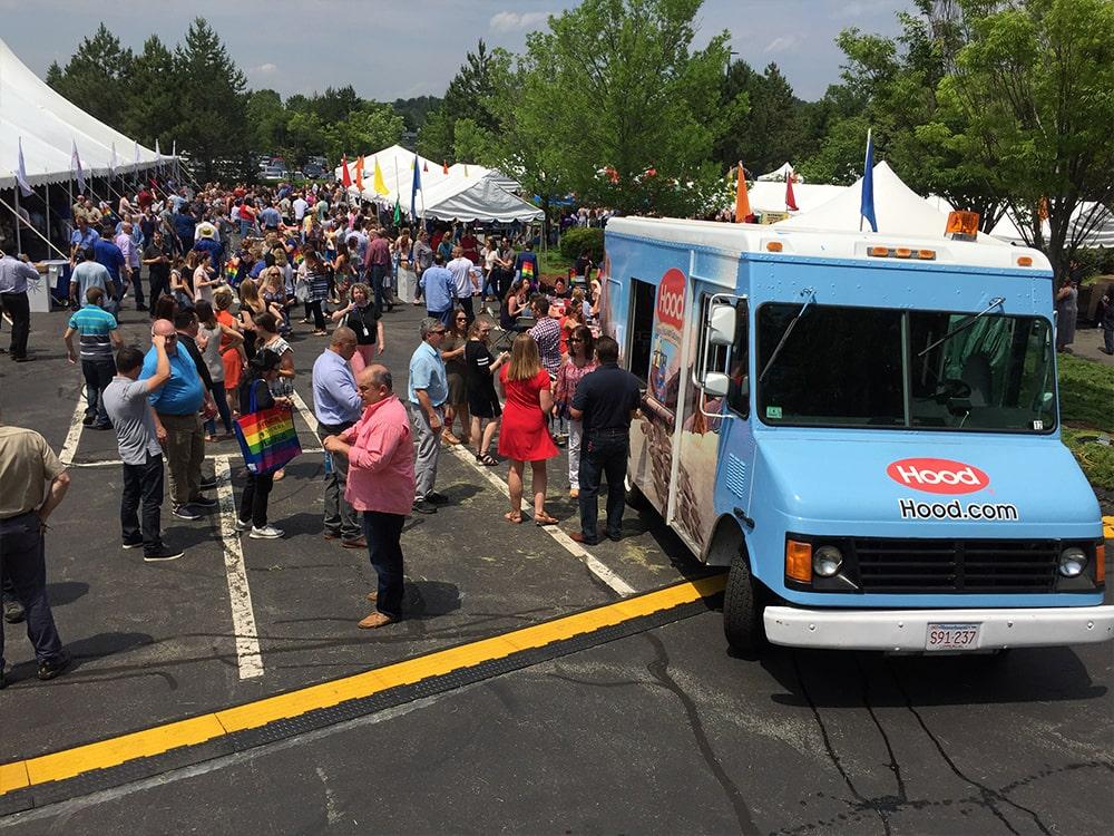 Hood Truck Festival Ice Cream Truck Crowd Families-min
