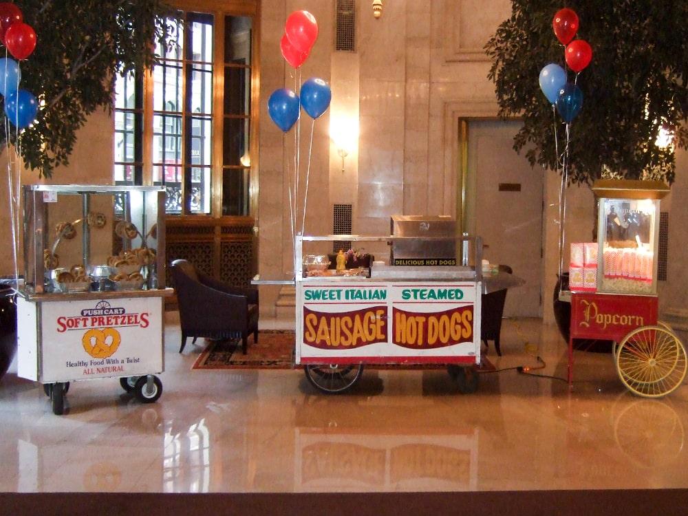 Hot Pretzel Hot Dogs Sausage Popcorn Stand Employee Appreciation Event-min