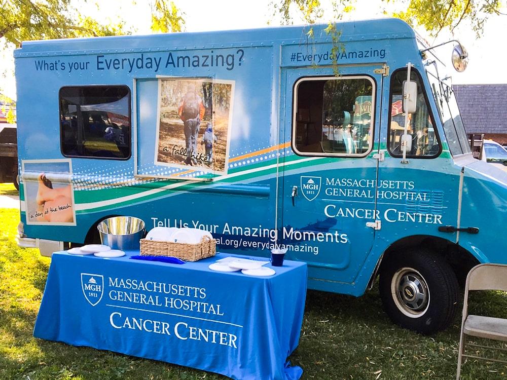 Massachusetts General Hospital Cancer Center Branded Truck Ice Cream Stand Display-min