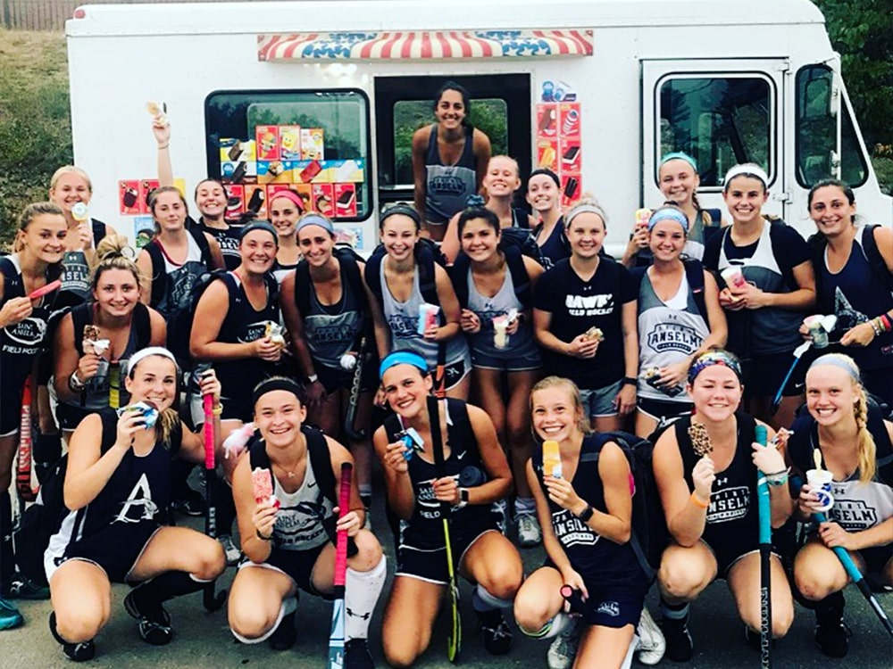 Saint Anselm Field Hockey Team Ice Cream Truck-min