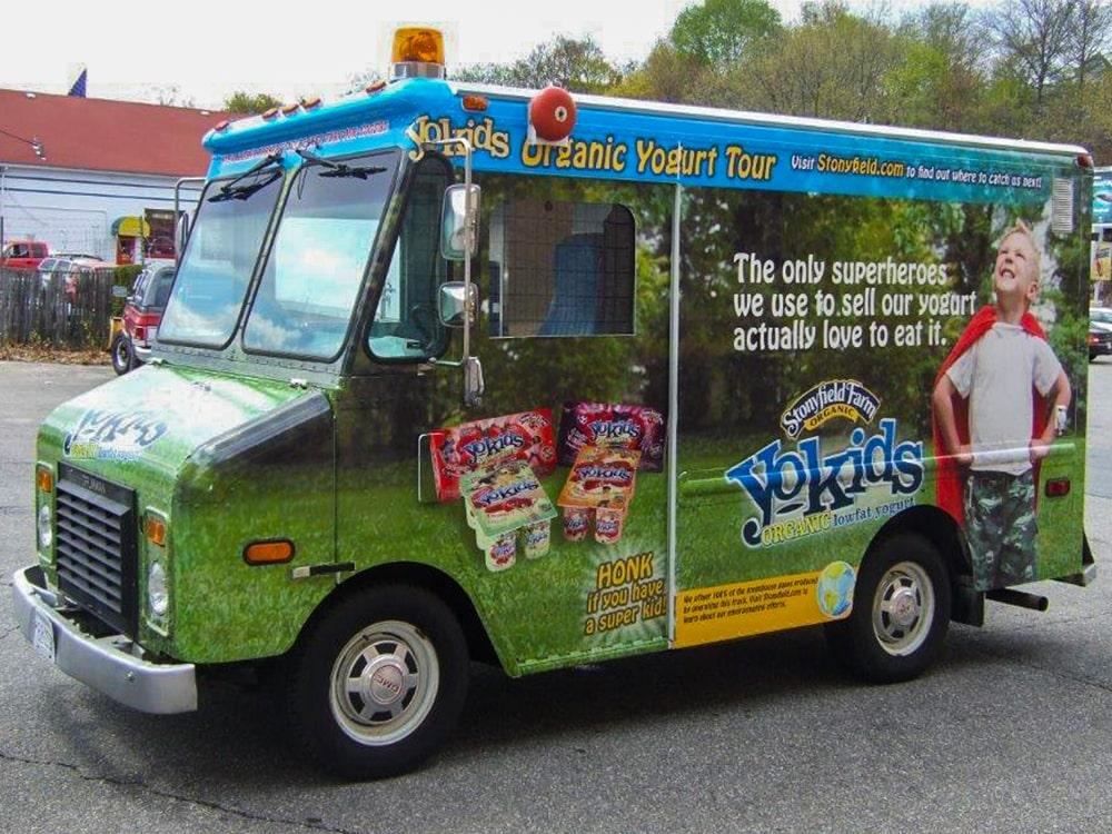 Stonyfield Farm Yo Kids Branded Truck-min